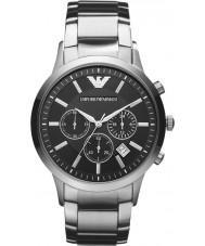 Emporio Armani AR2434 Mens klassische Chronograph schwarz silberne Uhr