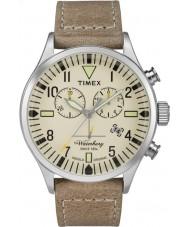 Timex TW2P84200 Mens waterbury tan Lederband Chronograph