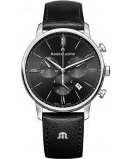 Maurice Lacroix EL1098-SS001-310-1 Mens eliros schwarzes Lederarmband Chronograph