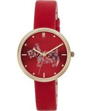 Radley RY2336 Damen Rosmarin Gärten Scharlach Lederband Uhr