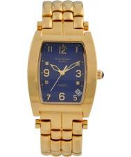 Krug-Baumen 1964DMG Tuxedo Gold 4 Diamant blaues Zifferblatt Gold Band