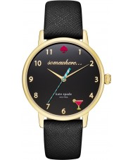 Kate Spade New York KSW1039 Damen U-Bahn-schwarzes Lederband Uhr