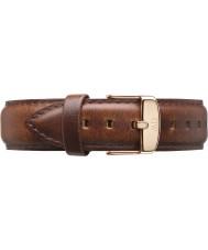 Daniel Wellington DW00200083 Dapper 19mm st mawes Roségold Ersatzband