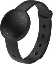 Misfit MIS2000 Glanz 2 schwarze Gummi Uhr kompatibel mit Android und iOS